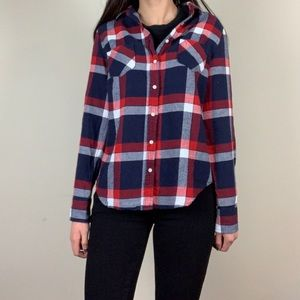 Merona Plaid long sleeve button-down flannel shirt